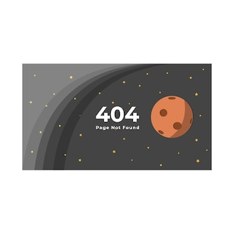 404 page not found template space theme