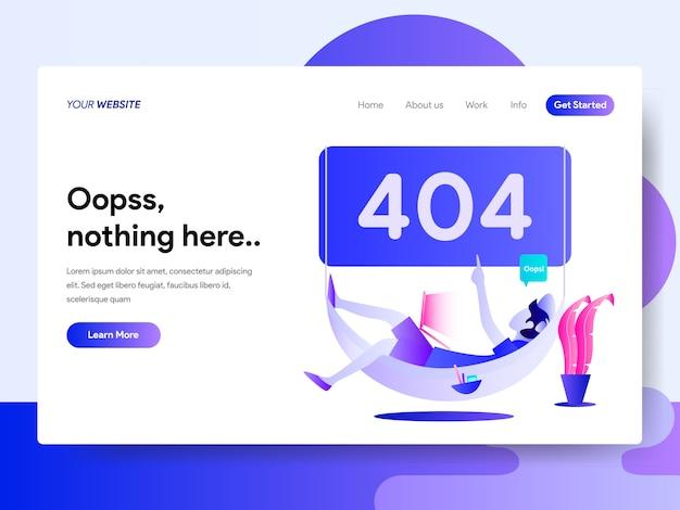404エラーのランディングページテンプレート