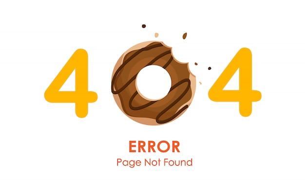 Страница ошибки 404 не найдена с пончиком