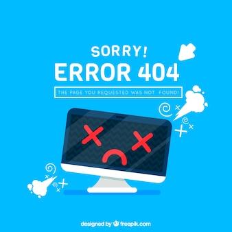404 дизайн ошибки с монитором