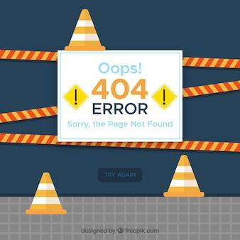 404 дизайн ошибки с концепцией строительства