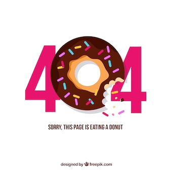 404 дизайн ошибки с пончиком