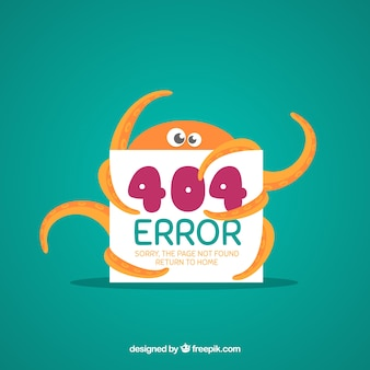 Плоский шаблон ошибки 404