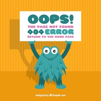404 шаблон ошибки в плоском стиле