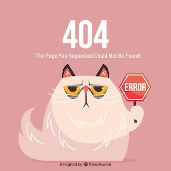 狂った猫と404エラーウェブテンプレート