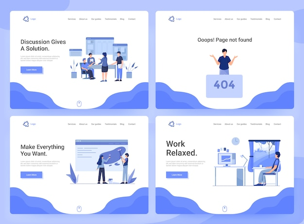 Набор шаблонов веб-страниц бизнес-приложений, исследования, обсуждения и разработки, страница 404