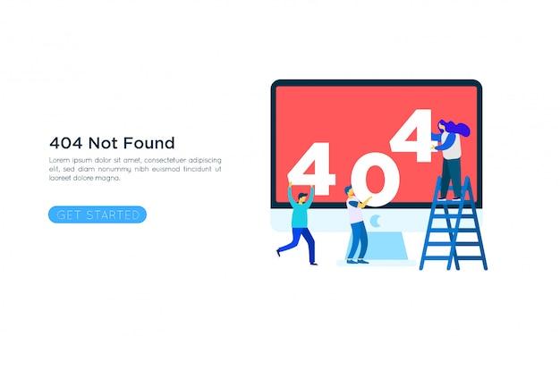 Концепция иллюстрации страницы ошибки 404