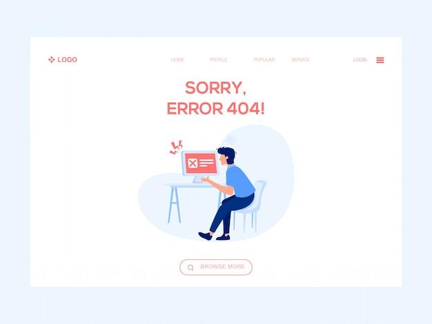 Извините, ошибка 404 веб-иллюстрация