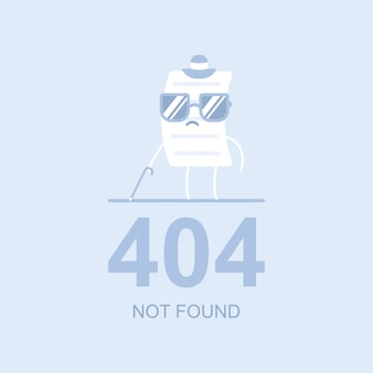 404 не найден векторная иллюстрация плоской концепции