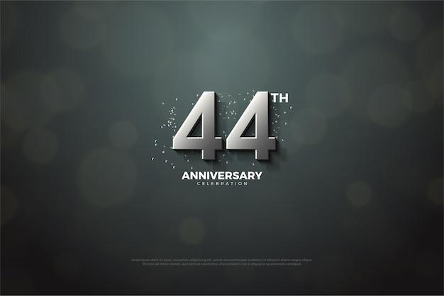 3dシルバー数字で44周年