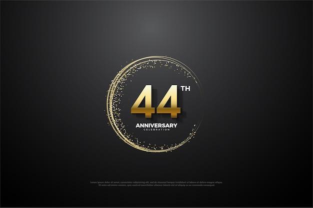 44-я годовщина с золотыми числами