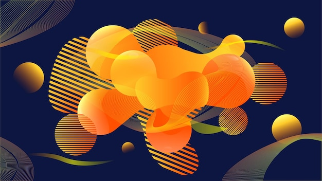 45. abstract circle background vector - eps10