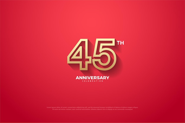 45-летие с коричневыми полосатыми цифрами.