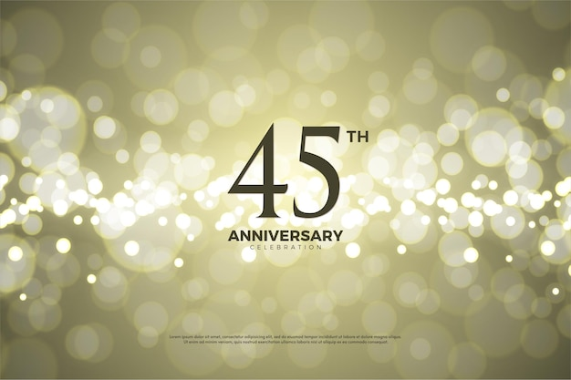 45-летие с числами и золотом