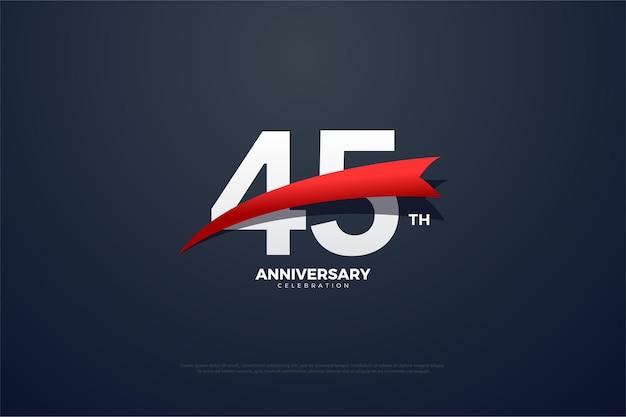 45-летие с числами