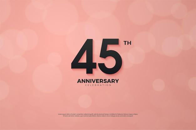 45-летие с розовой бумагой с эффектом боке.
