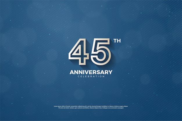 45-летие с номерами в толстую коричневую полоску на темно-синем фоне.
