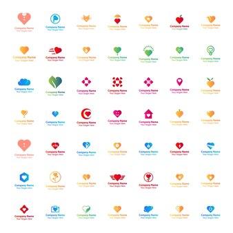 49 love template logo design