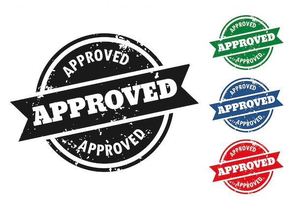 4つの承認されたグランジスタイルスタンプセット
