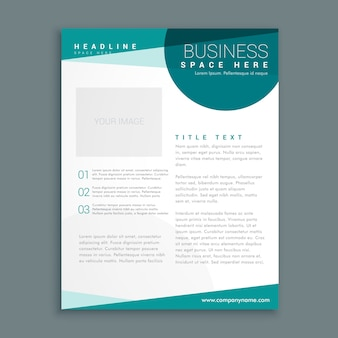 Простой шаблон синий дизайн брошюры в формате а4