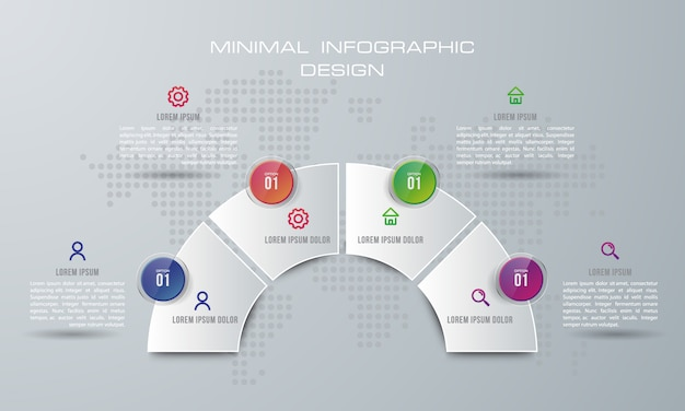 Инфографический шаблон с 4 вариантами