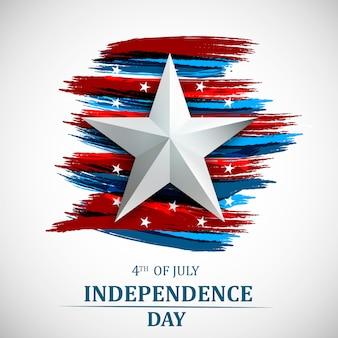 С 4 июля, день независимости сша. открытка четвертого июля.