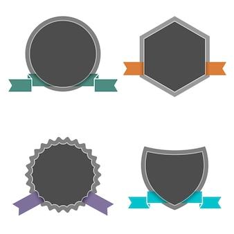 レトロなスタイルの4つのラベル