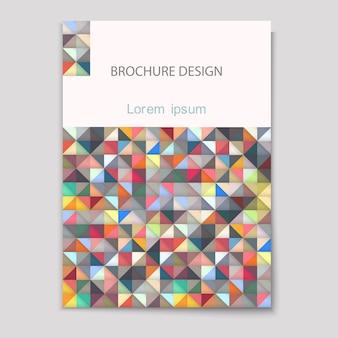 Современный шаблон обложки с разноцветной мозаикой - размер а4
