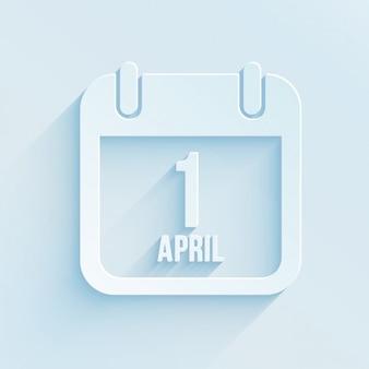 4月のカレンダーの第一