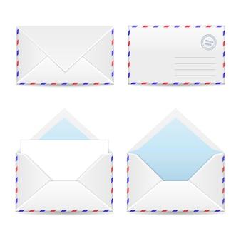 4つの白い封筒のセット