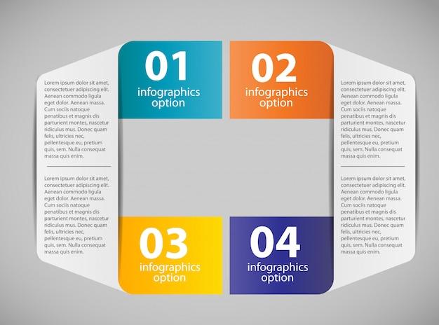 4つのステップを持つインフォグラフィックビジネステンプレート