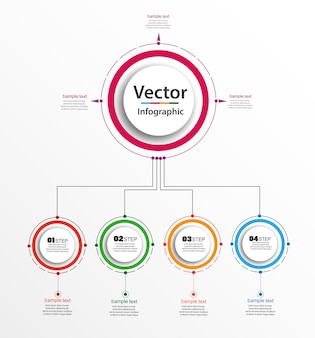 Инфографики бизнес-концепция с 4 шага