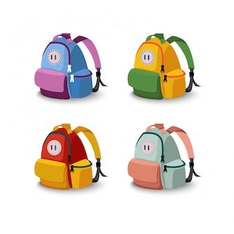 4袋の学校のセット