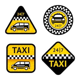 タクシー-4つのラベルを設定