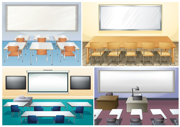 教室の4つのシーン