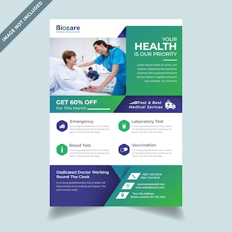 Корпоративное здравоохранение медицинский шаблон флаера а4