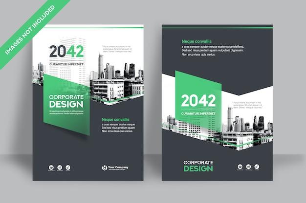Фирменный шаблон оформления обложки книги в формате а4.