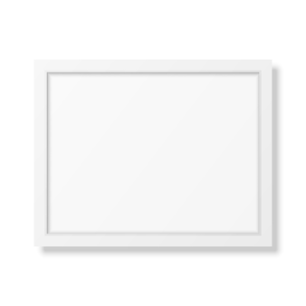 Реалистичная белая рамка а4