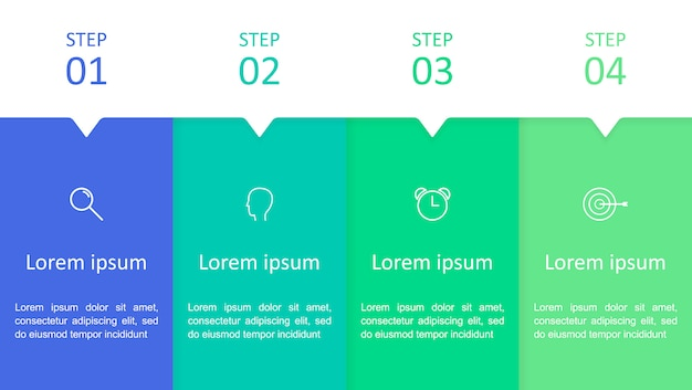 4つのステップのインフォグラフィック