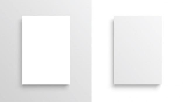 Векторная бумага формата а4 с тенями