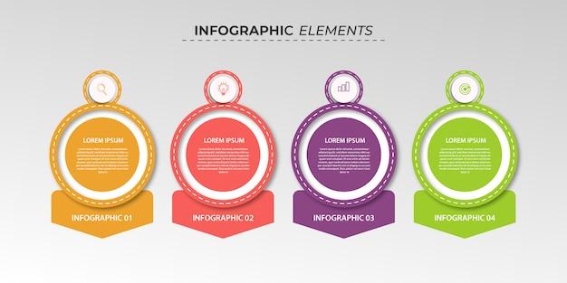 4ステップのインフォグラフィックデザインビジネス