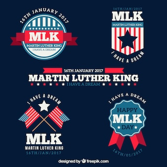 マーティン・ルーサー・キングの日のための4つの幻想的なステッカーのパック