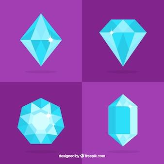 ブルートーンの4つの貴重な宝石のパック