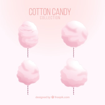 ピンクのコットンキャンディー4パック