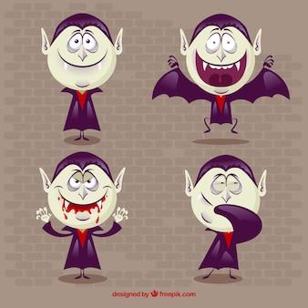 4つの素敵な吸血鬼のセット