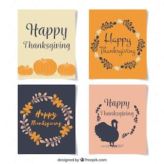 4つのシンプルな感謝カード