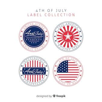 4 июля коллекция значков
