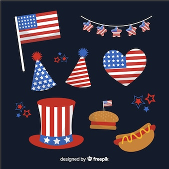 4 июля - коллекция элементов дня независимости