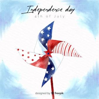 Акварель 4 июля - день независимости