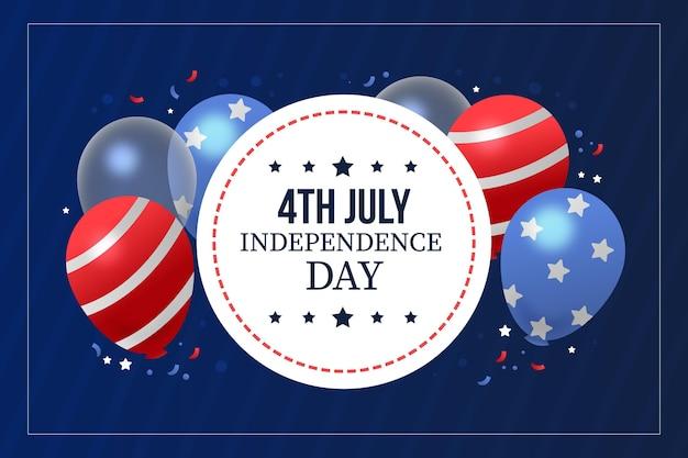 4 июля - день независимости в плоском дизайне